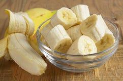 Bananas in bowl Royalty Free Stock Photo