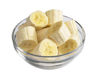 Bananas in bowl Stock Images
