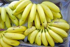 Bananas in boxes Royalty Free Stock Photos