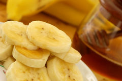 Bananas breakfast Royalty Free Stock Images