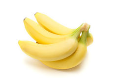 Bananas bunch. In a white  background Stock Photo