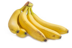 Bananas. Bunch of fresh bananas isolated on white Stock Photo