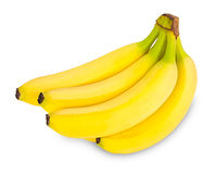 Bananas. Bunch of bananas in front of white background Stock Image