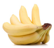 Bananas bunch isolated on white background cutout Stock Photos