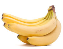 Bananas bunch isolated on white background cutout Stock Photography