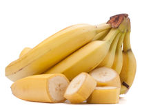 Bananas bunch isolated on white background cutout Royalty Free Stock Image