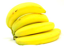 Bananas. A bunch of bananas in a view of fresh fruits Royalty Free Stock Photo