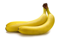 Bananas. Bunch of bananas on white background Royalty Free Stock Photos
