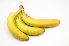 Bananas from the Canary Islands on white background.  Stock Photography