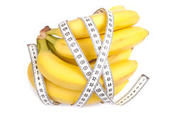 Bananas and centimeter Royalty Free Stock Photo