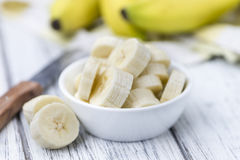 Bananas (chopped) Stock Images
