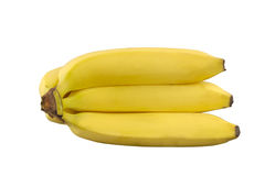Bananas with clipping path. Some bananas isolated on a white background. Clipping path included royalty free stock image
