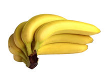 Bananas with clipping path Royalty Free Stock Images
