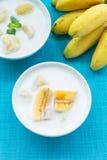 Bananas in coconut milk, Thailand Royalty Free Stock Photography