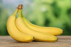 Bananas with copyspace Stock Photography