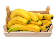 Bananas in crate Royalty Free Stock Images