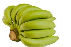 Bananas cruas verdes imagens de stock