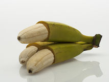 Bananas descascadas fotografia de stock