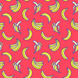 Bananas do teste padrão do vetor fotos de stock royalty free