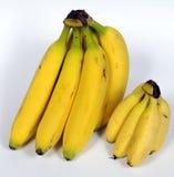 Bananas em grupos diferentes do tamanho foto de stock royalty free