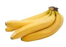 Bananas em um branco Fotografia de Stock