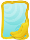 Bananas frame. Frame with bananas and background Stock Image