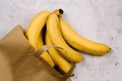 Bananas frescas da vista superior foto de stock