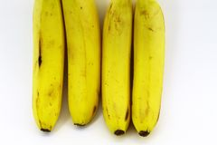 Bananas frescas e saudáveis deliciosas imagem de stock