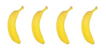 Bananas frescas no fundo branco Imagem de Stock Royalty Free