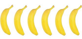 Bananas frescas no fundo branco Imagens de Stock Royalty Free