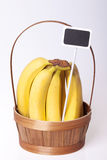 Bananas fresh fruit for advertising Royalty Free Stock Photos