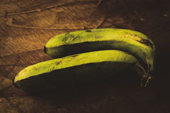 Bananas. Fresh green bananas picked from a nearby farmer& x27;s market Royalty Free Stock Images