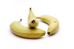 Bananas freshly. On white background Royalty Free Stock Photography