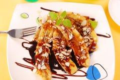 Bananas fritadas Fotografia de Stock