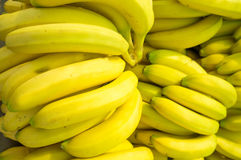 Bananas. Full frame take of fresh bananas on a market stall Stock Images