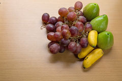 bananas, grapes of fresh fruit Stock Photo