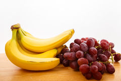 Bananas and Grapes Stock Photography