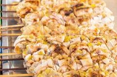 Bananas grelhadas, sobremesa tailandesa Imagem de Stock