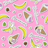 Bananas and ice cream cones Royalty Free Stock Photo
