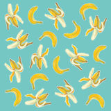 Bananas illustration with natural pastel images. Royalty Free Stock Photos