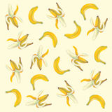 Bananas illustration with natural pastel images. Royalty Free Stock Photography