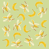 Bananas illustration with natural pastel images. Stock Photo