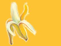 Bananas illustration with natural pastel images. Stock Images