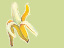 Bananas illustration with natural pastel images. Stock Photos