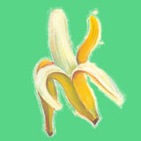 Bananas illustration with natural pastel images. Stock Image