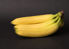 Bananas. Image of a bunch of bananas on a black background Stock Photography