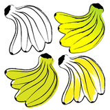 Bananas. Image ligaments bananas in the contour style Royalty Free Stock Image