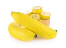 Bananas isoladas Fotos de Stock Royalty Free