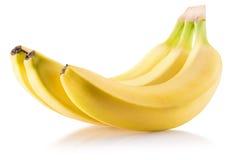 Bananas isoladas em um fundo branco Fotografia de Stock