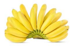 Bananas isoladas no branco Fotos de Stock